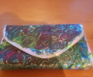 Abstract    mini clutch or cosmetic bag